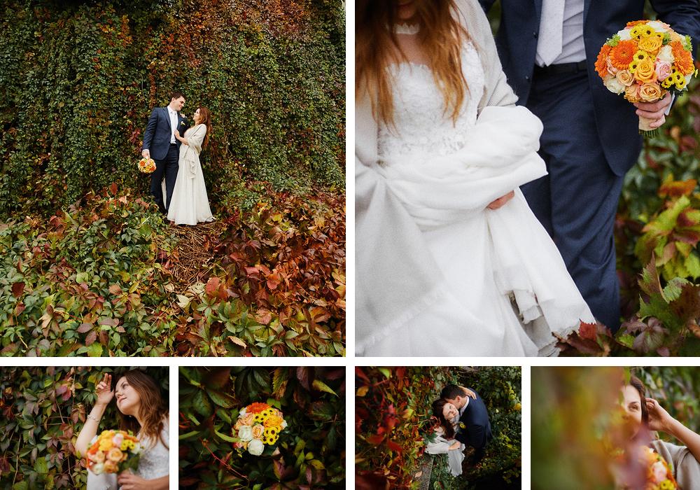 jesień zdjęcia ślubne
