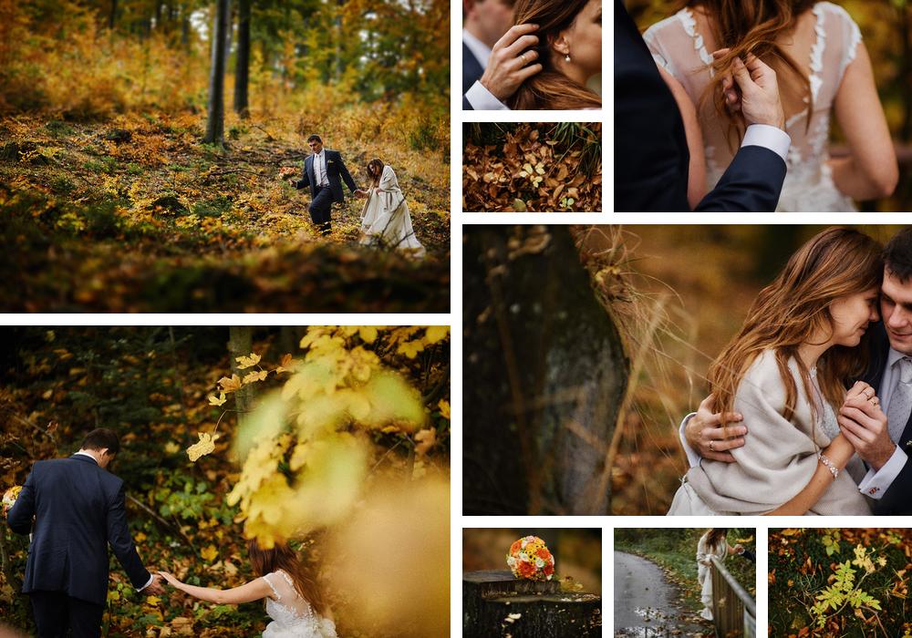 fotografia ślubna góry jesienią