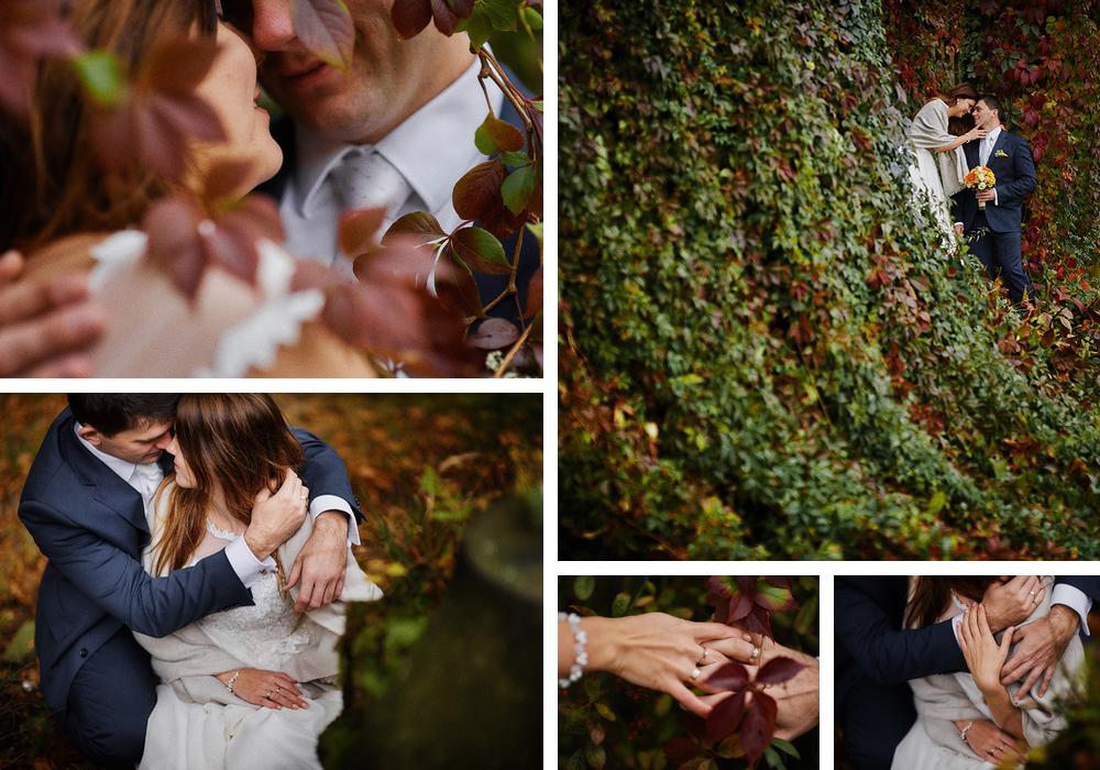 jesienny bluszcz para młoda