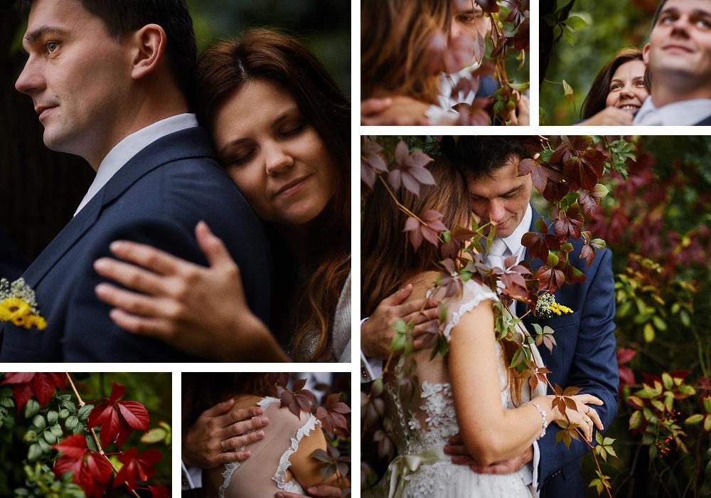 romantyczna jesienna sesja ślubna