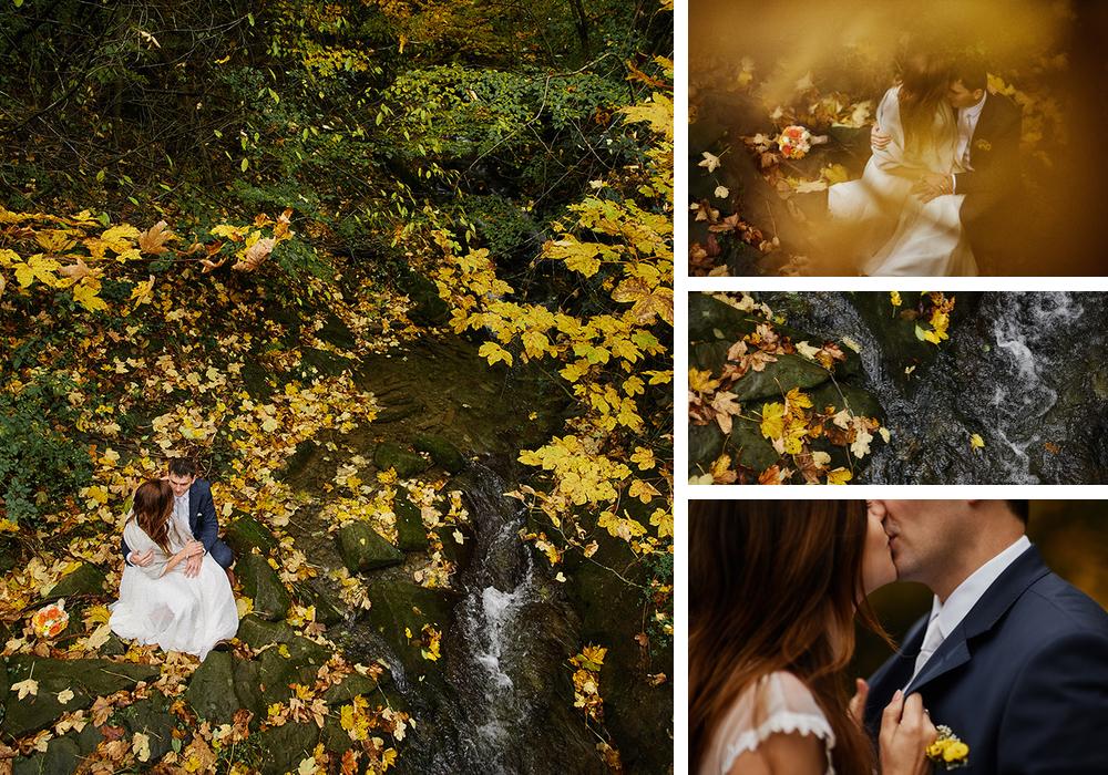 góry jesień para młoda
