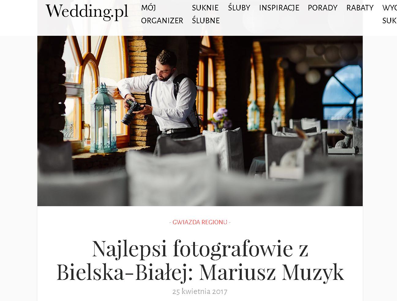 fotograf ślubny na wesele bielsko-biała